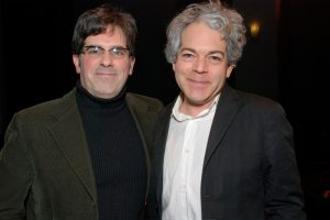 Michael Almereyda and Jonathan Lethem at the Film Society of Lincoln Center